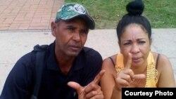 Aimara Nieto Muñoz junto a su esposo, el opositor Ismael Boris Reñí. (Foto cortesía de CubaNet)