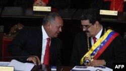 Nicolás Maduro y Diosdado Cabello el 24 de enero de 2019.
