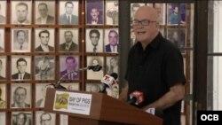 Orlando Gutiérrez-Boronat, del Directorio Democrático Cubano, organización del exilio cubano con sede en Miami, Florida.
