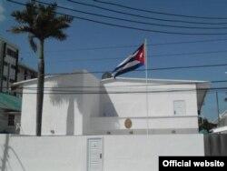La Embajada de Cuba en Guyana, en una foto tomada del sitio oficial de la sede diplomática.