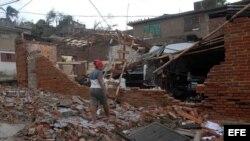 Cuba destrozos causados por el ciclón Sandy en Cuba.