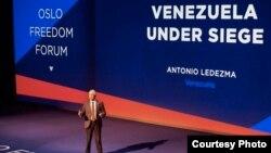 Antonio Ledezma en el Foro de Oslo 2018