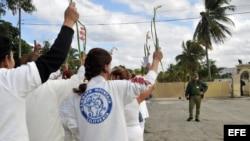 Imagen de archivo: Damas de blanco reclaman la libertad de los presos políticos frente a la prisión del Combinado del Este