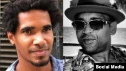 El artista independiente cubano Luis Manuel Otero Alcántara (izquierda) y el compositor y cantante Descemer Bueno, en imagenes tomadas de redes sociales.