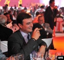 El hijo de Fidel Castro, Antonio Castro, durante la cena de gala en el cierre de la XIV edición del Festival del Habano.