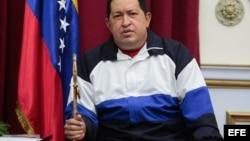 Fotografía cedida por el Palacio de Miraflores del presidente venezolano, Hugo Chávez