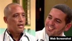 Los médicos cubanos secuestrados en Kenia, Assel Herrera Correa, (izq) y Landy Rodríguez (der)