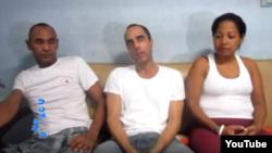 Ismael Boris Reñí, Zaqueo Báez y María Acón (i-d).
