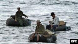 Pescadores cubanos