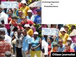 Fotos de Angel Moya muestran el acto de repudio contra las Damas de Blanco, este 22 de mayo.