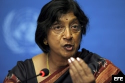 Navi Pillay, Alta Comisionada de la ONU para derechos humanos