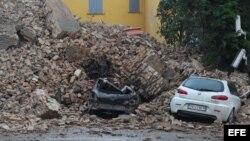 Imagen del terremoto acontecido en Italia
