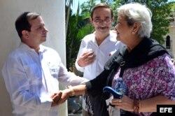 Fernando González, espía de la Red Avispa, condenado en EEUU a 17 años de cárcel, recibió a la relatora ONU en el centro que hoy preside en Cuba: el Instituto Cubano de Amistad con los Pueblos (ICAP).