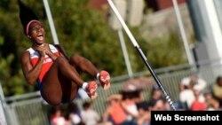 Yarisley Silva, plata olímpica en salto con pértiga en los Juegos Olímpicos de Londres 2012.