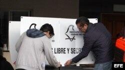 Colocación de las urnas en Ciudad de México.