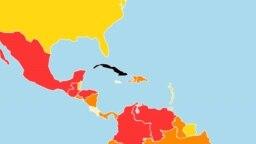 En el mapa mundial de la libertad de prensa de RSF, Cuba es el único punto negro en el hemisferio.
