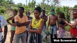 Residentes de Campo 14, en el Cerro, enfrentan amenaza de desalojo. (Captura de video/CubaNet)