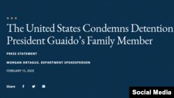 Condena EEUU arresto de Juan José Márquez
