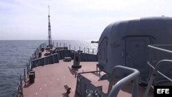 Rusia ataca posiciones del EI en Siria conmisiles lanzados desde el Caspio.