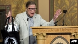 Ruth Ginsburg en la Universidad de Georgetown en Washington DC.