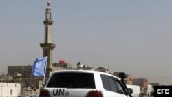 Observadores de la ONU en Siria.