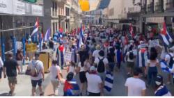 La manifestación en las calles de Madrid