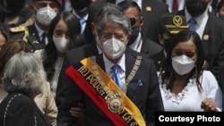 El conservador Guillermo Lasso asumió el lunes como presidente de Ecuador.