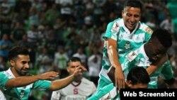Futbolistas del club mexicano Santos Laguna.