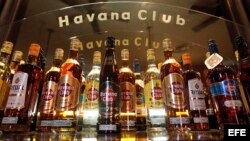 Vista de botellas del ron Havana Club.
