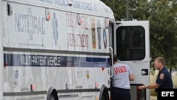 Vista del personal de emergencias de Frisco.