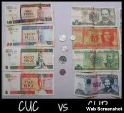 Billetes cubanos. Dualidad Monetaria