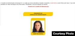 La presidenta de Sonangol, Isabel dos Santos