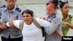 Dama de Blanco Martha Sánchez a celda de castigo