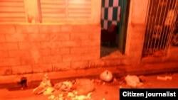 Reporta Cuba. Vandalismo contra la casa del reportero Ricardo Sánchez.