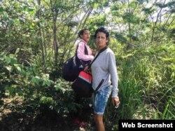 El objetivo del primer día del viaje: cruzar ilegalmente desde Guyana a Brasil. (Fotografía de Lisette Poole. Screenshot NPR)
