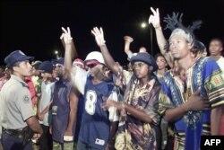 Concierto de clausura del VIII Festival Nacional de Rap y Hip Hop en Alamar, La Habana, el 18 de agosto de 2002. (AFP/ Niurka Barroso)