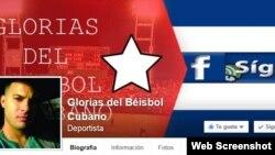 "Grupo en facebook ""Glorias del Béisbol Cubano""."