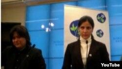 Rosa María Payá en conferencia de prensa 4 de marzo en el Parlamento Sueco