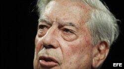 El escritor Mario Vargas Llosa, premio Nobel de Literatura.
