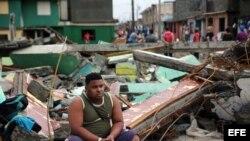 Destrozos y estragos causados por el paso del huracán Matthew en Baracoa, provincia de Guantánamo, Cuba.