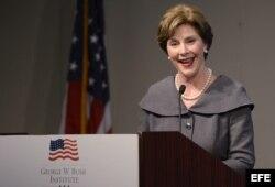 Laura Bush fue una de las oradores en el acto