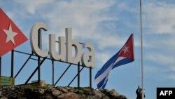 La bandera de Cuba.