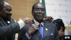 Robert Mugabe, presidente de Zimbabwe.