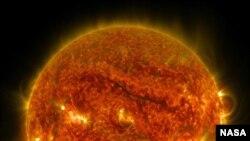 La enorme tormenta es inusual en el Sol. Foto del Observatorio Geodinámico Solar de la NASA.