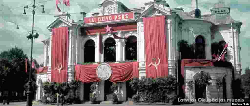 Letonia ocupada por los soviéticos en 1940.