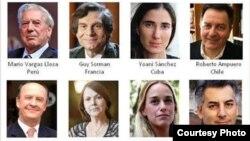 Cartel con algunos de los ponentes que acudirán al acto de la Fundación Internacional para la Libertad.