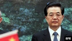 El expresidente chino Hu Jintao.