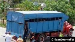 Reporta Cuba. Imágenes de los medios de transporte público de los cubanos.