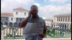 Continúa protesta a favor de la libertad de activistas presos