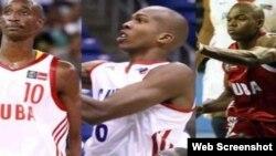 Cinco baloncetistas cubanos que desertaron en Puerto Rico, 2012